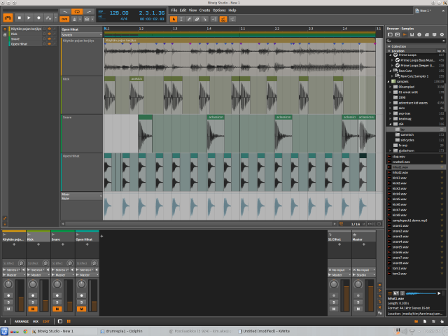 Bitwig layered event editor